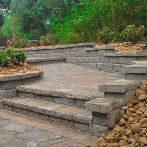Paver Steps and Retaining Walls - Thompson Brothers Landscaping Chattanooga TN