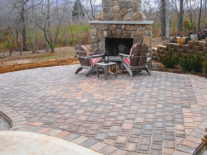 Outdoor Fireplace by Thompson Brothers Landscaping