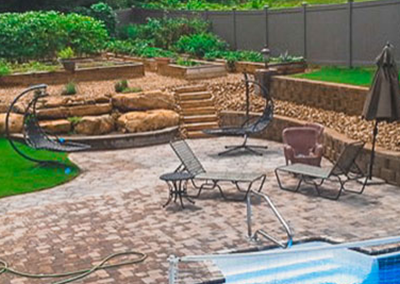 Paver Patio and Pool Landscaping Chattanooga TN