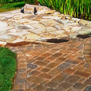 Paver and Stone Sidewalk Installation Hixson TN