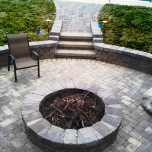Paver Patio Install by Thompson Brothers Landscaping