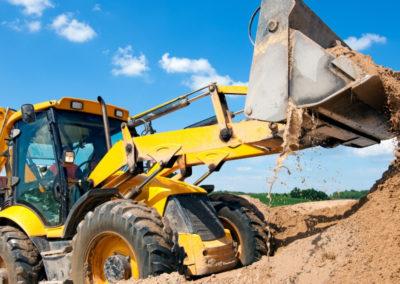 excavation moving dirt